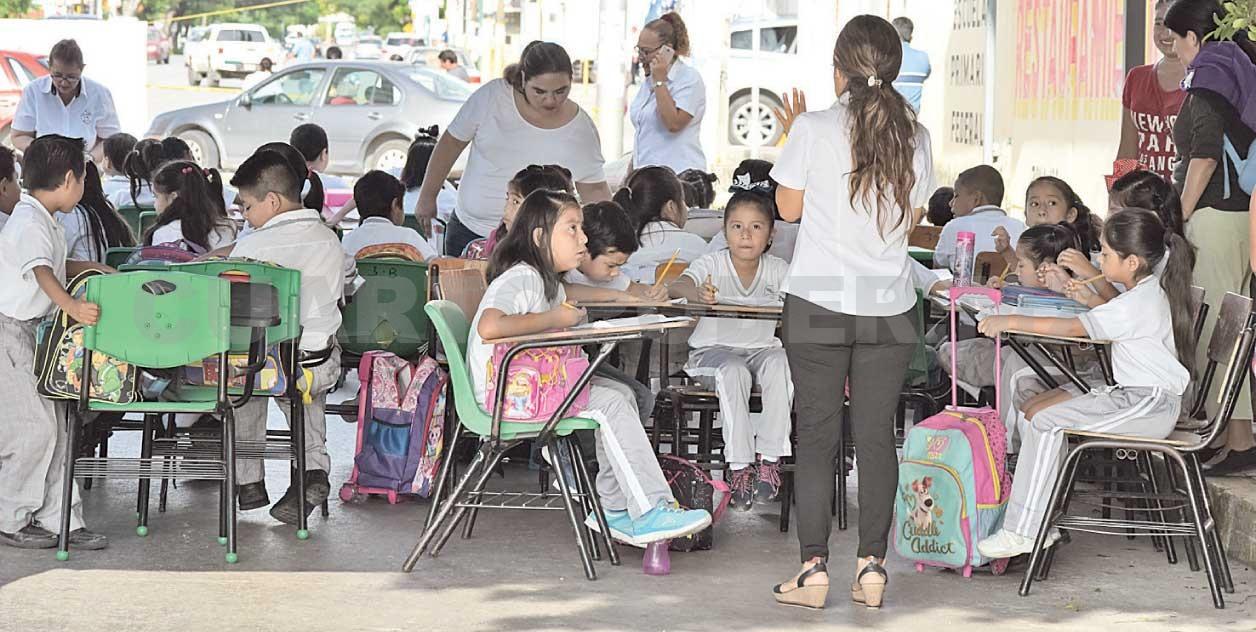 Atienden a Niños que recibían clases en la calle