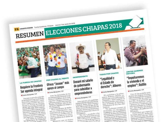 Resumen: Elecciones chiapas 2018