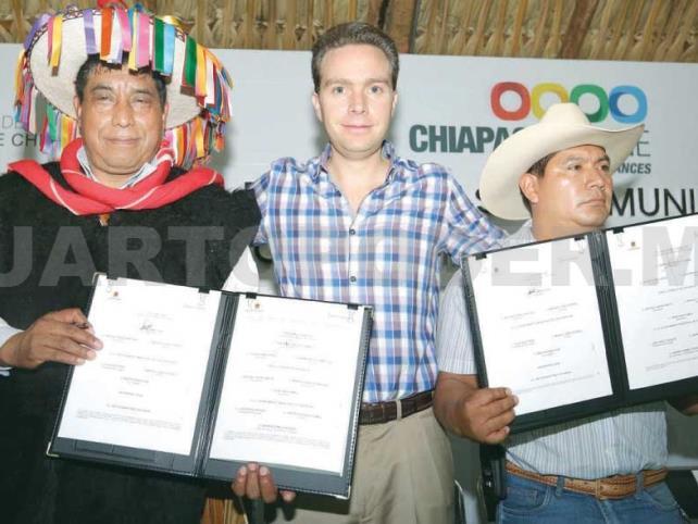 Atestigua MVC Convenio de Paz entre Chenalhó y Chalchihuitán