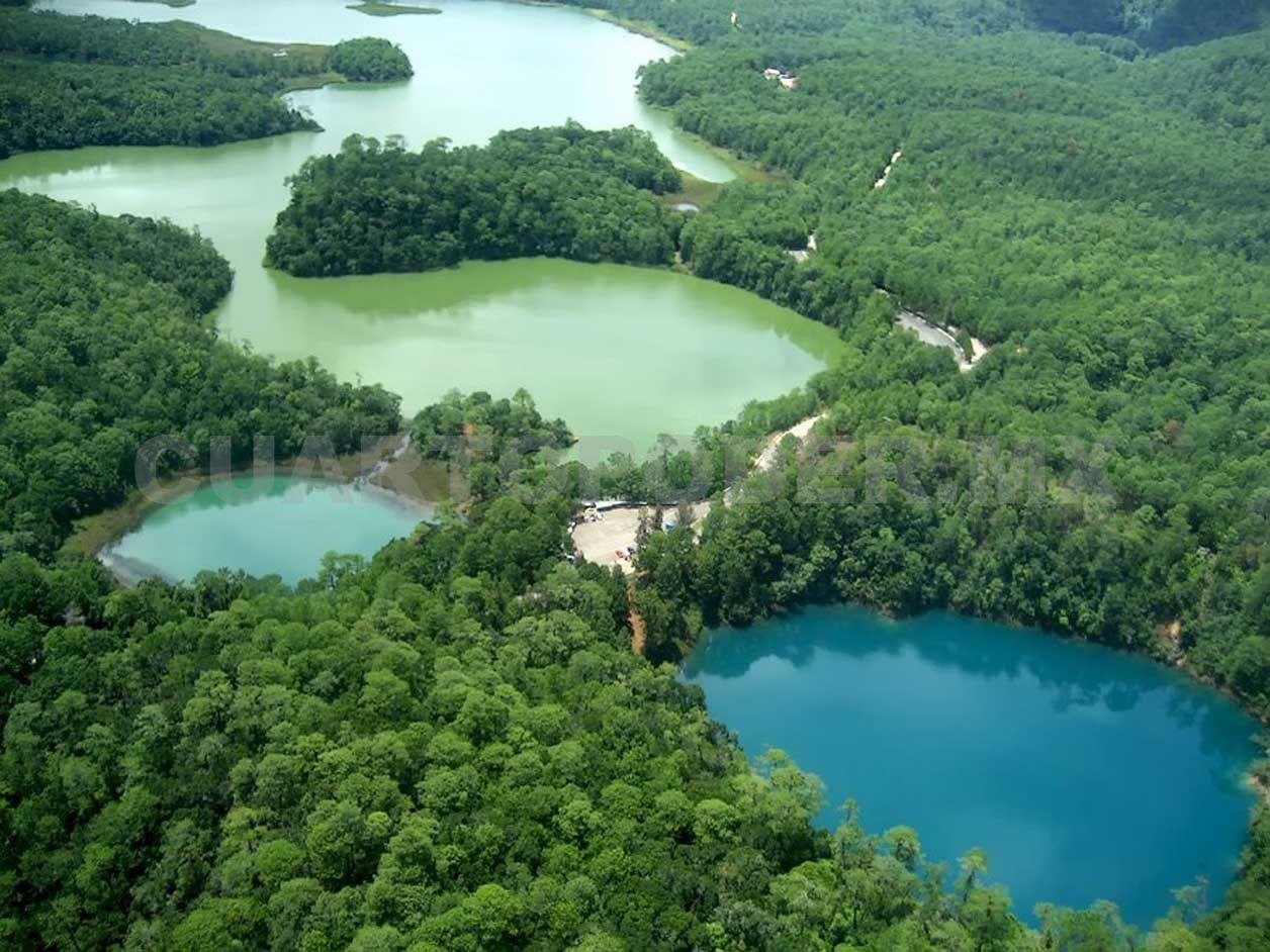 Lagunas de Montebello, de los lugares románticos en Chiapas.