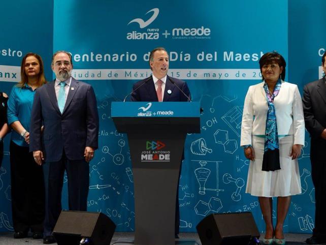 Reconoceré a los maestros con ingresos dignos: José Antonio Meade