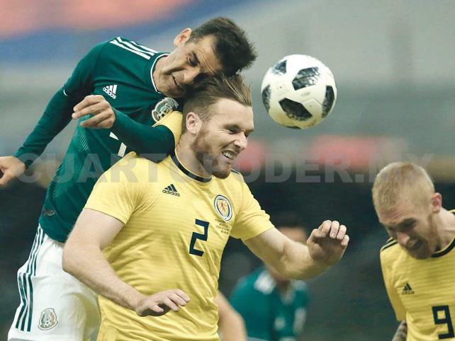 Triste victoria de México contra su oponente Escocia
