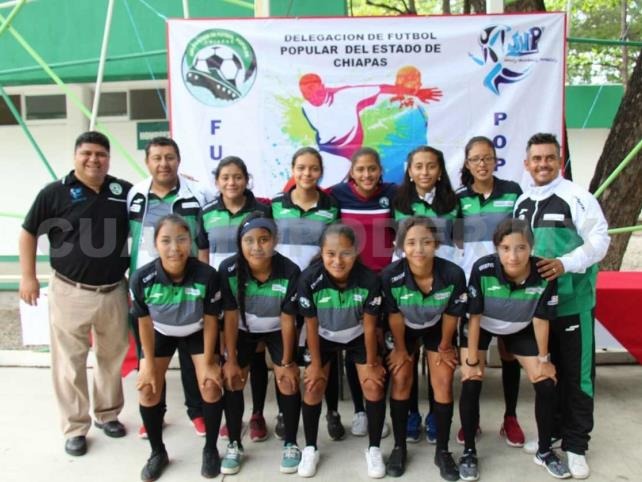 Abanderan selección Chiapas de Futbol 6X6