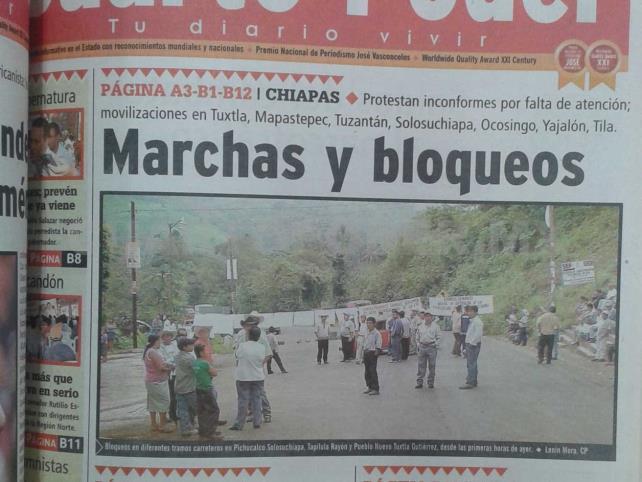 Siniestro pasado: Movilización por imposición de Juan Sabines en el PRD