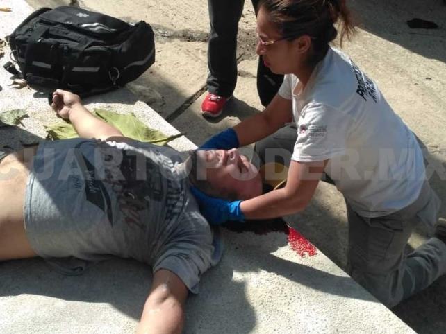 Pintor salvadoreño se electrocuta y cae al piso
