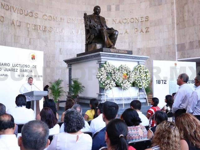 Conmemoran CXLVI aniversario luctuoso de Don Benito Juárez