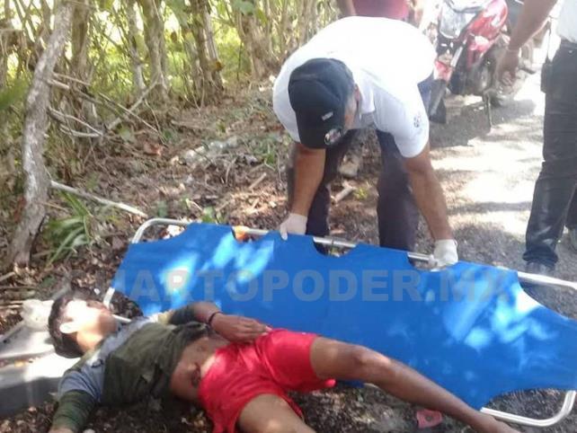 Estudiante derrapó y fue llevado al hospital