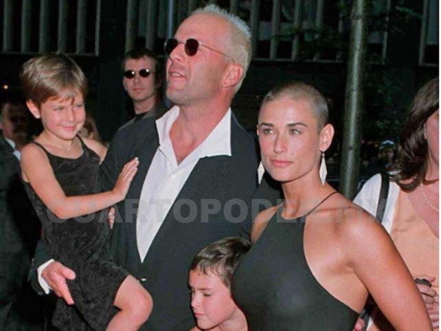 Bruce y Moore, juntos para celebrar a su hija