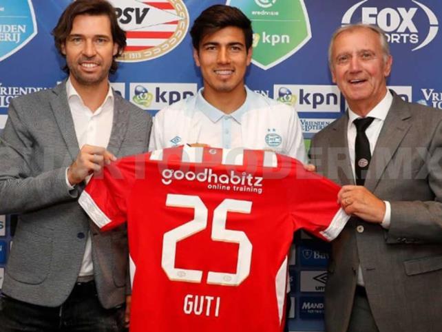 PSV presenta a Gutiérrez como su nuevo jugador