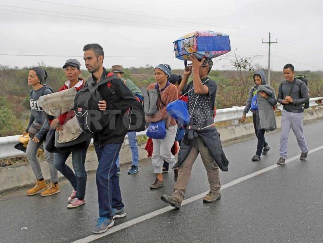 Venezolanos obligados a migrar