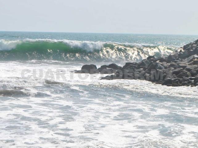 Mar de fondo pega en la Costa de Chiapas