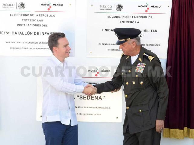 MVC y Cienfuegos inauguran Cuartel en Chicomuselo