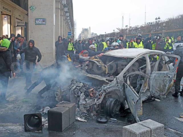 Protestas terminan con 287 detenidos y 110 heridos