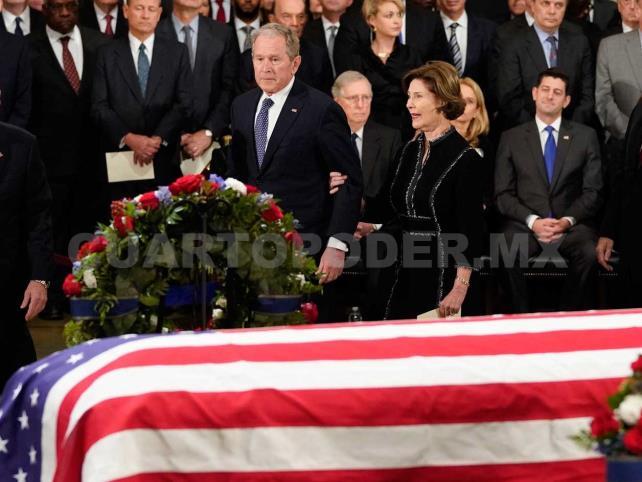 Inician 4 días de luto al expresidente George H.W. Bush