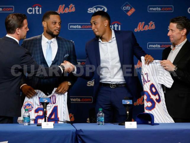 Mets de Nueva York presenta a beisbolistas