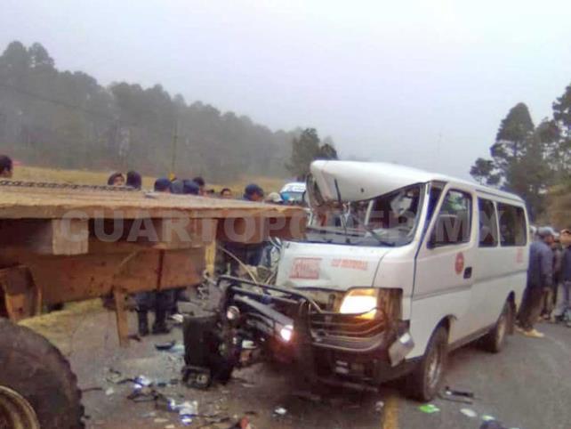 Tres muertos y cuatro heridos, saldo de accidente