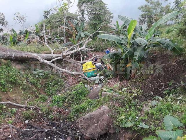 Mototaxi se enfiló a barranco de 60 metros