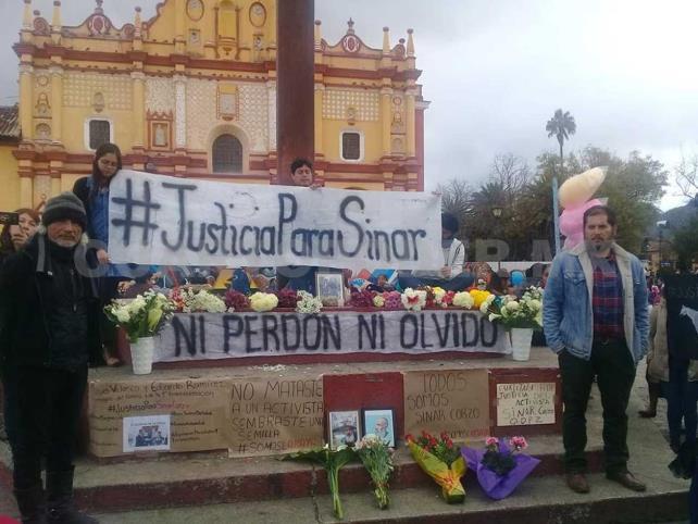 Organizaciones piden justicia en caso Sinar