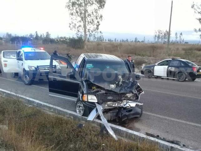Dos personas heridas en accidente carretero