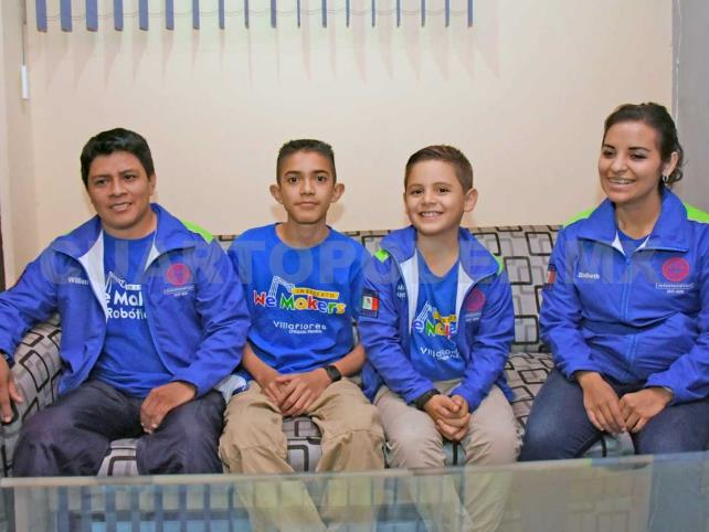 Niños, luchan para asistir a Mundial de Robótica