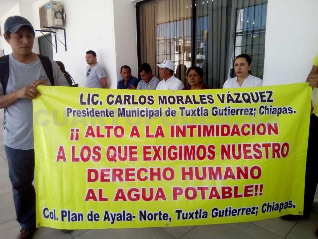 Habitantes exigen su derecho de acceso al agua