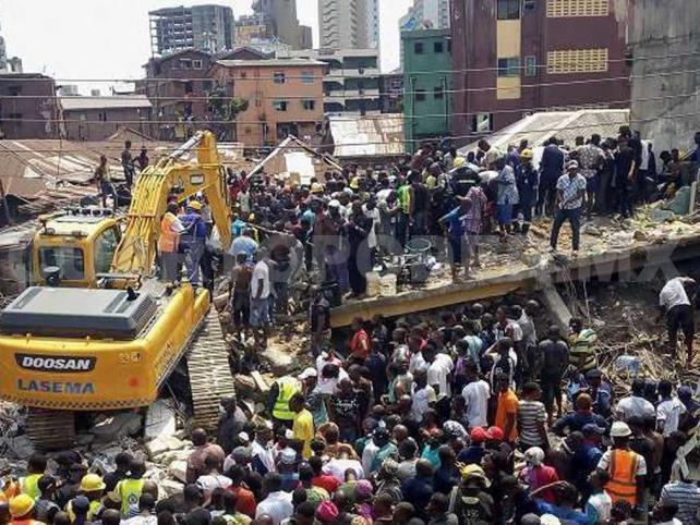 Fin a labores de rescate; 9 muertos al colapsar edificio