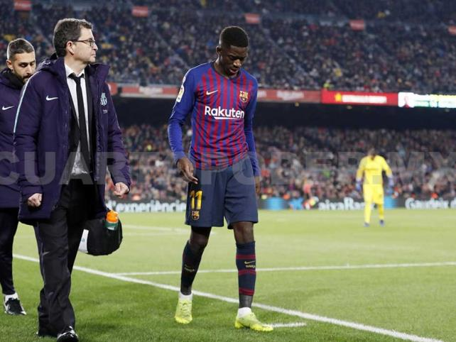 Barcelona pierde por un mes a Dembélé