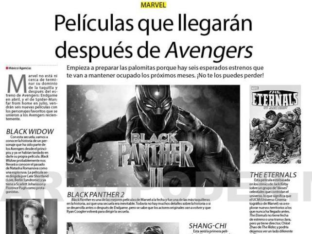 Películas que llegarán después de Avengers