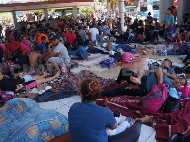 Centroamericanos invaden el centro de Tapachula