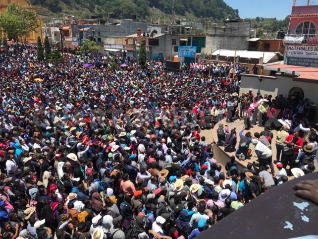 Celebra Gobierno civilidad por elecciones en Oxchuc