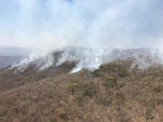 Suman 18 incendios forestales en Chiapas