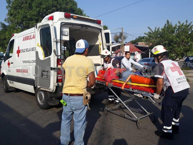 Termina malherido por accidente vial