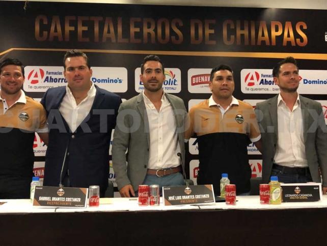 Presentan oficialmente a Cafetaleros de Chiapas