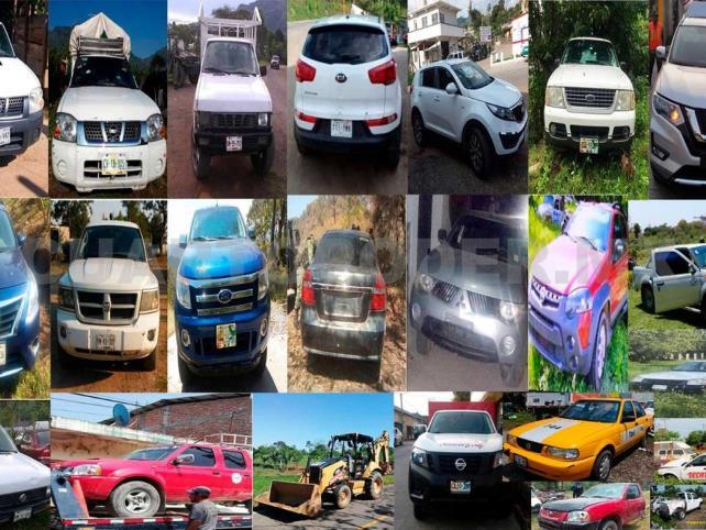 Fiscalía y GN recuperan más de 90 vehículos