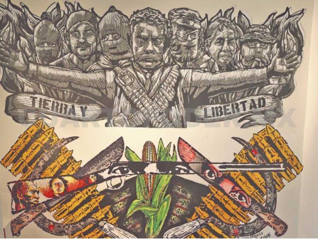 Zapata en arte urbano y otras técnicas