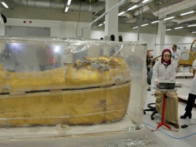 Exhiben la restauración de Tutankamón