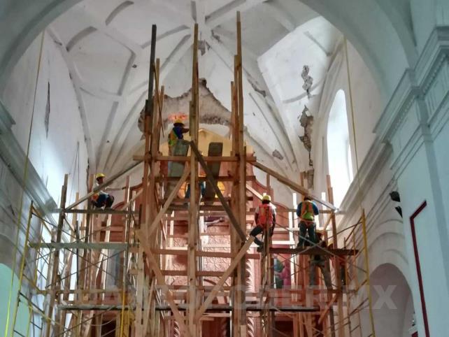 Lenta la reconstrucción de monumentos y templos