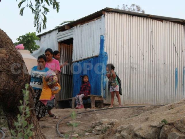 Casas improvisadas abundan en Chiapas