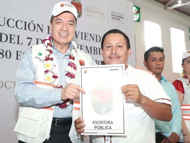 En Chiapas entregarán 20 mil viviendas reconstruidas