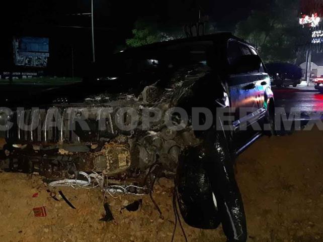 Cuatro lesionados en carambola vehicular
