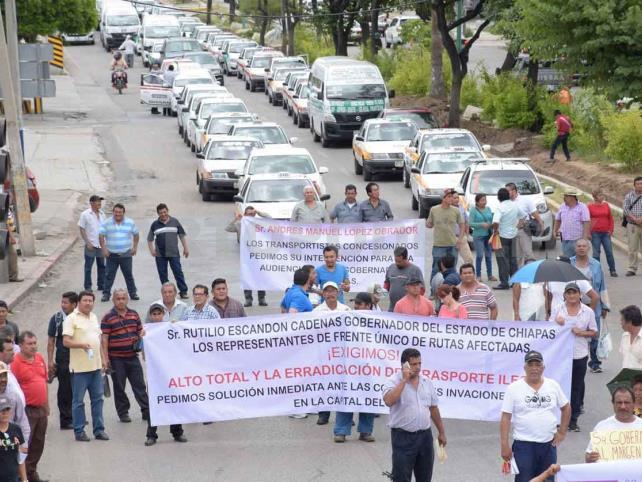 Protestan para exigir combate al pirataje
