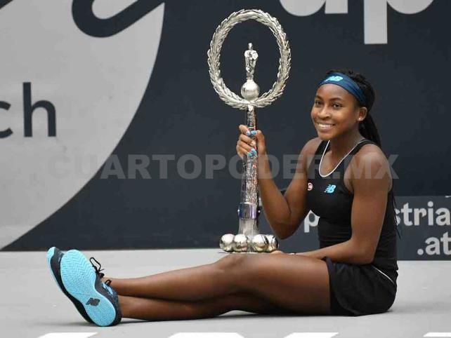 """Quinceañera """"Coco"""" Gauff gana su primer torneo WTA"""