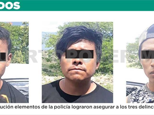 Detienen a violentos asaltantes de taxista