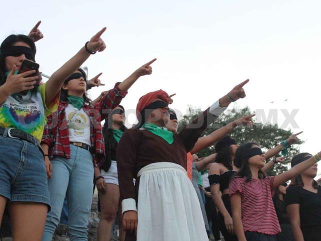 Chiapanecas protestan contra la violencia sexual