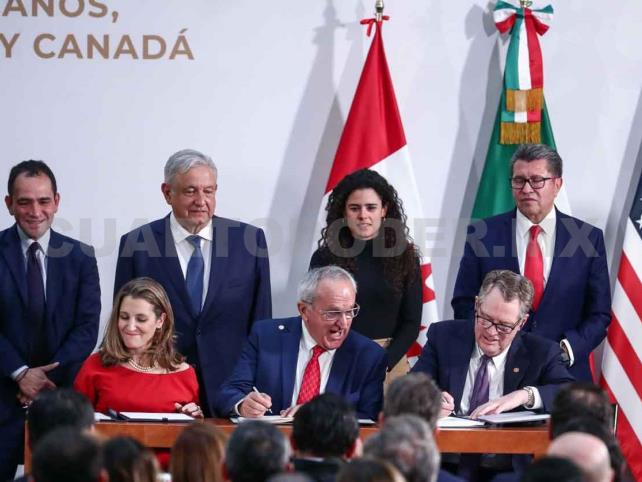 Firman modificaciones del T-MEC, México, EU y Canadá