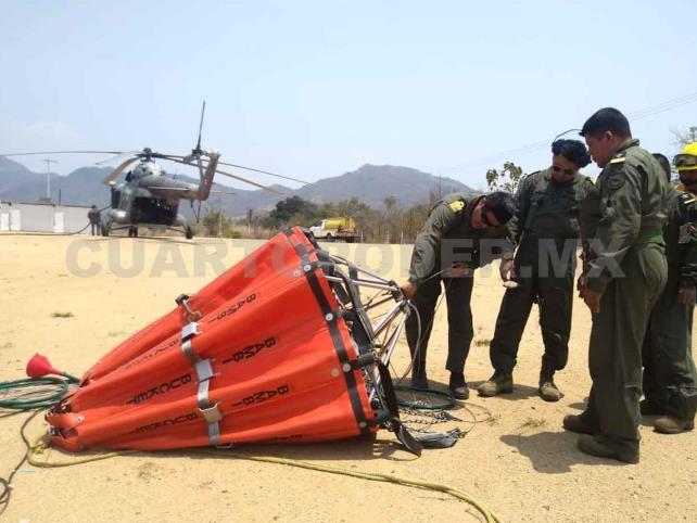 Reforzarán apoyo aéreo para combatir incendios