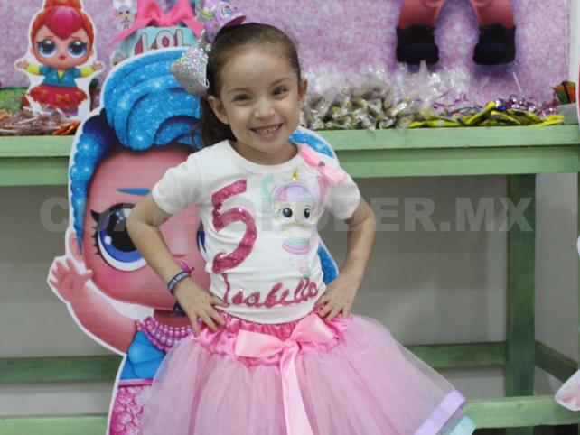 Isabella cumplió 5 años