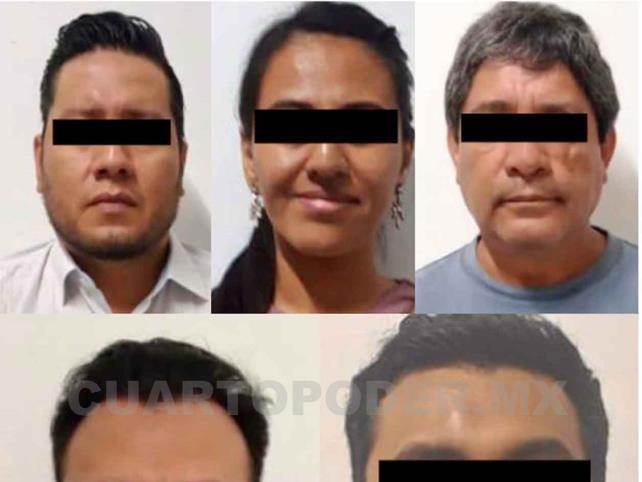 Caen cinco exservidores públicos por corrupción