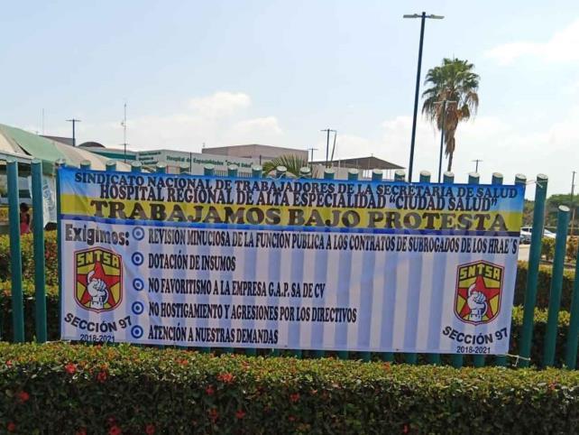 Agudizan protestas en Ciudad Salud