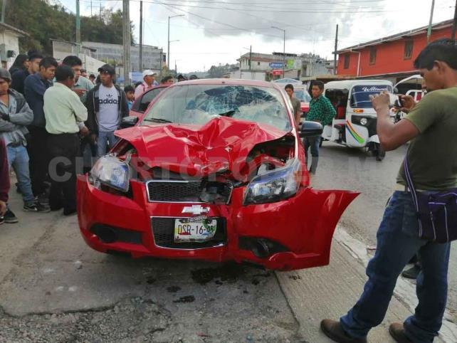 Retienen a sujeto por atropellar a motorista